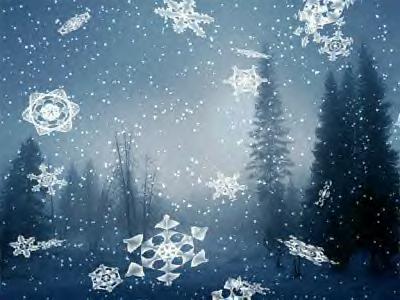 18 as snowflakes drift