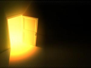 37. a doorway appears